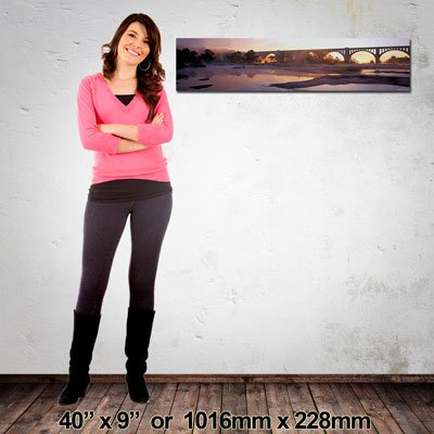 Made in NZ Canvas Print, Panorama 1016x228mm