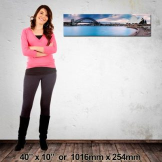 1016x254mm Panorama Canvas Print, Made in NZ