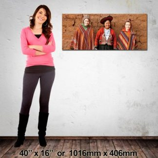 Quality Panorama Canvas Print, 1016x406mm, Made in NZ