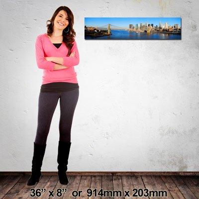 NZ-Made Canvas Print, Panorama 914x203mm