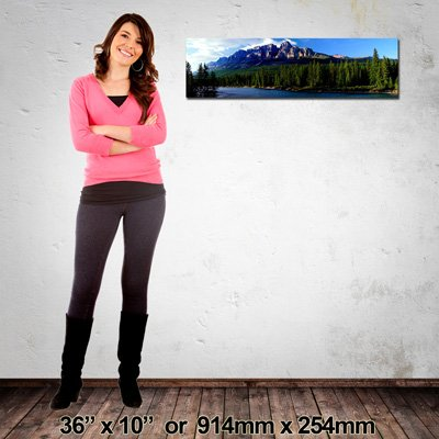 Quality Canvas Print, Panorama 914x254mm, Made in NZ