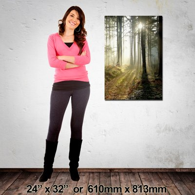610x813mm Portrait Canvas, Made in NZ