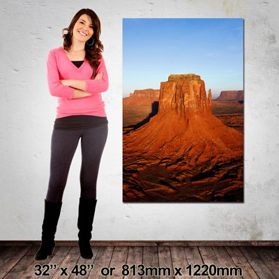 Portrait Canvas Print, 813x220mm, Made in NZ