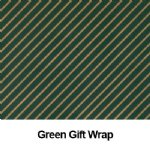 green Gift Wrap for canvas print