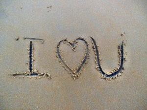 I heart U message