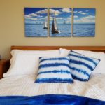 Tryptych canvas print display