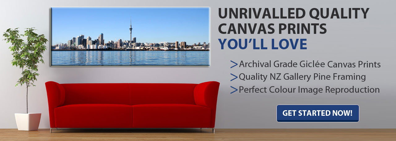 Quality Canvas prints made in NZ